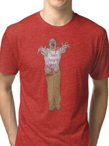 hug it out zombie Tri-blend T-Shirt