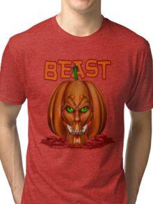 Manic Pumpkins .. Beast Tri-blend T-Shirt