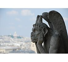 Grotesque on Notre Dame Photographic Print