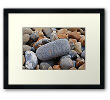Hastings beach pebbles, England Framed Print