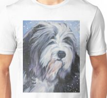 Bearded Collie Fine Art Painting Unisex T-Shirt