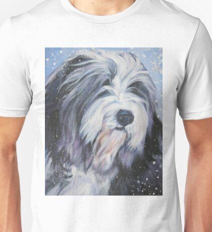 Bearded Collie Fine Art Painting Unisex T-Shirt