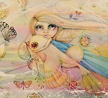 rainbow angel by © Karin (Cassidy) Taylor