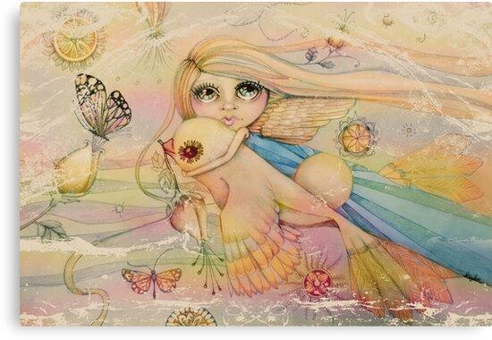 rainbow angel by © Karin Taylor