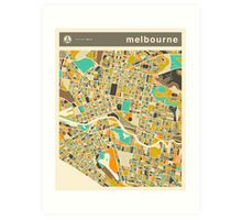 MELBOURNE MAP Art Print
