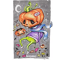 Pedro the Pessimistic Punkin Photographic Print