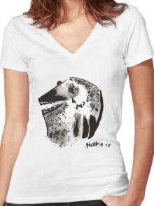 No Title Women's Fitted V-Neck T-Shirt