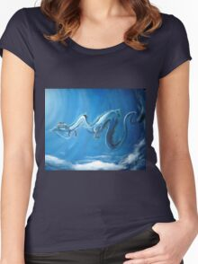 Haku & Chihiro (Spirited Away) Women's Fitted Scoop T-Shirt