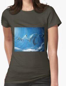 Haku & Chihiro (Spirited Away) Womens Fitted T-Shirt