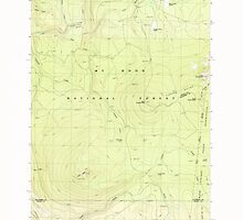 USGS Topo Map Oregon Pinhead Buttes 281099 1986 24000 by wetdryvac