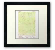 USGS Topo Map Oregon Pinhead Buttes 281099 1986 24000 Framed Print