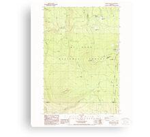 USGS Topo Map Oregon Pinhead Buttes 281099 1986 24000 Canvas Print
