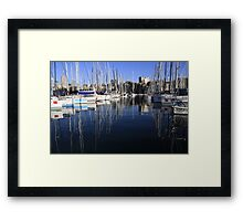 Sailing Yacht Symmetry Framed Print