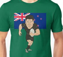 Rugby player running ball New Zealand flag Unisex T-Shirt
