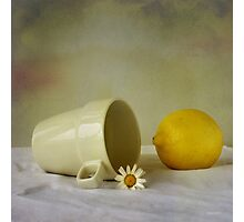 Still life with one flower Photographic Print