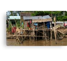 Stilt House - Mekong Delta Canvas Print