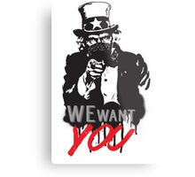 "Uncle Sam ""We want you"" Metal Print"