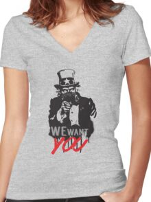 """Uncle Sam """"We want you"""" Women's Fitted V-Neck T-Shirt"""