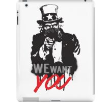 "Uncle Sam ""We want you"" iPad Case/Skin"