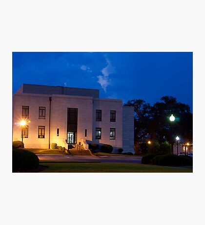 Evening Twilight Rural Town Courthouse Photographic Print