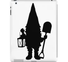 Gnome in Silhouette  iPad Case/Skin