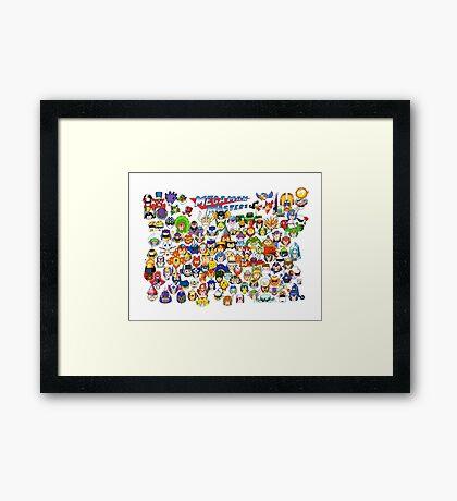 Mega Man Masters  Framed Print