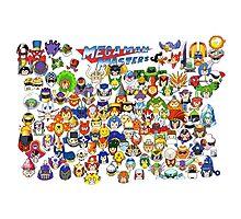 Mega Man Masters  Photographic Print