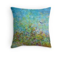owl spoke of the nature of things Throw Pillow