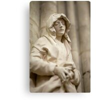 Carved statue of female Canvas Print