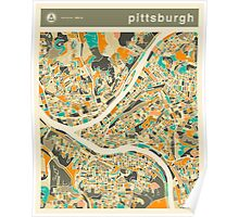 PITTSBURGH MAP Poster