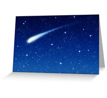 Blue Shooting Star - Make a wish Greeting Card