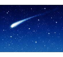 Blue Shooting Star - Make a wish Photographic Print