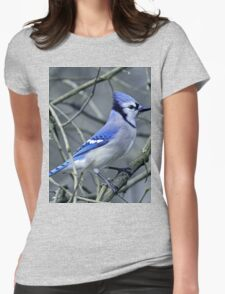 Blue Jay in the Brush Womens Fitted T-Shirt