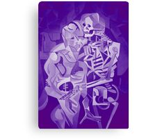Halloween Skeleton Welcoming The Undead Canvas Print