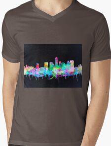 Austin skyline watercolor 2 Mens V-Neck T-Shirt