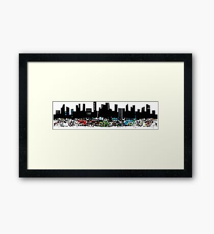 Chaotic City Stance Framed Print