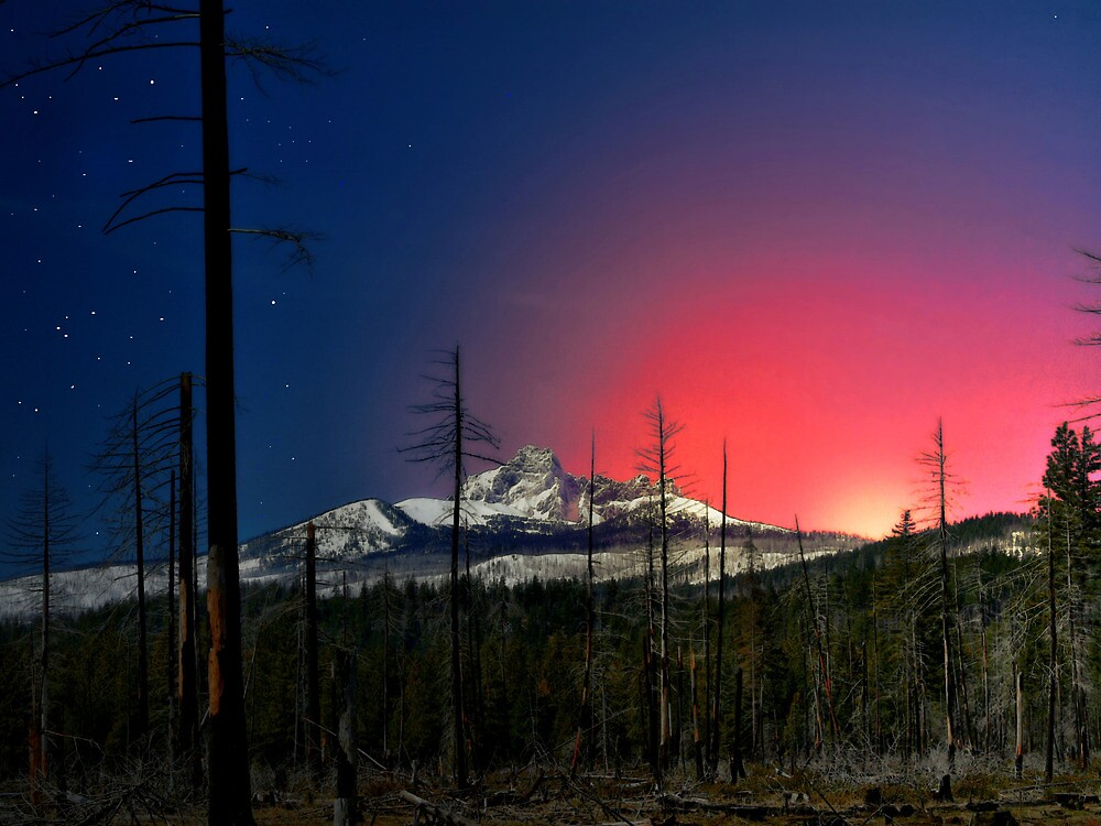 Three Fingered Jack Sunset  ~ Oregon Cascades ~ by Charles & Patricia   Harkins ~ Picture Oregon