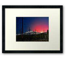Three Fingered Jack Sunset  ~ Oregon Cascades ~ Framed Print