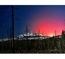 Three Fingered Jack Sunset  ~ Oregon Cascades ~ Photographic Print