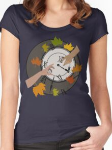 Are We Just Lost In Time? Women's Fitted Scoop T-Shirt