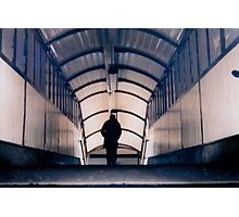 Man in the Metro Station Photographic Print