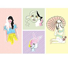Pastel Fashion Collection Photographic Print