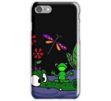 Funky Frog Sitting on Alligator Snout iPhone Case/Skin