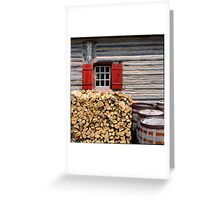Firewood and Window Greeting Card