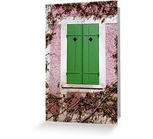Green Shutters Greeting Card