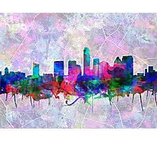 Austin skyline watercolor 3 Photographic Print