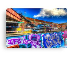 Leake Street and London Taxi Canvas Print