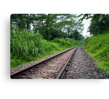 Diminishing Track Canvas Print