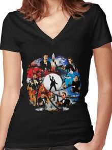 The Incredible World Of 007 Women's Fitted V-Neck T-Shirt