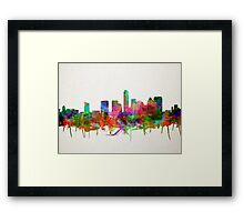 Austin skyline watercolor 4 Framed Print